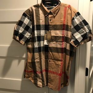 Burberry button up top